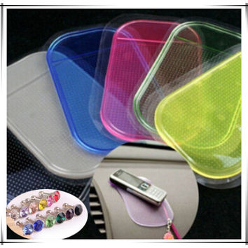 HOT SALE Powerful Silica Gel Magic Sticky Pad Anti Slip Non Slip Mat for Phone Car Accessories With 2pcs Dust Plug