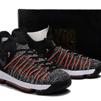 2017 Nike Zoom KD 9 Kevin Durant 9 ¢ù Black /Pink Basketball Shoes