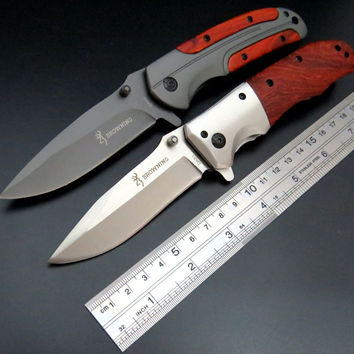 Custom Pocket Hunting YF Knife 5Cr13Mov Stainless Steel Blade Folding Tactical Knives For Survival Camping With Red Wood