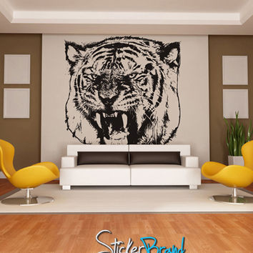 Vinyl Wall Decal Sticker Angry Tiger #790
