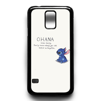 Lilo & Stitch Ohana Means Family Art Samsung Galaxy S4 Galaxy S5 Galaxy S6 Galaxy S6 Edge Galaxy S6 Edge Plus Galaxy S7|S7 Edge Case