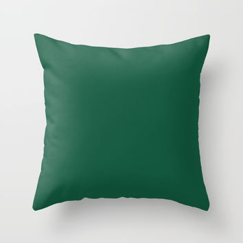 Simply Forest Green Throw Pillow by followmeinstead