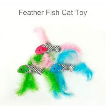 Pet Cat bird feather scratch catnip toy ball for kitten funny small cats teaser interactive toys fishing kedi jouets Chat 20cm