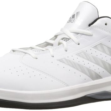 adidas Performance Men's Isolation 2 Low Basketball Shoe White/ Silver/ Black 12 D(M)