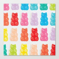 Gummy Bears Canvas Print by allisone