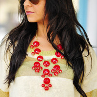 RESTOCK The Bright Red Crew Necklace   Hope's