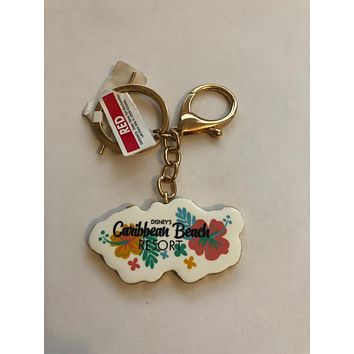 Disney Parks Caribbean Beach Resort Keychain New with Tag