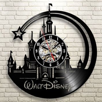 DISNEY  VINYL RECORD WALL CLOCK UNIQUE DESIGN