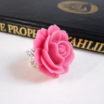 Blush Pink Rose Ring