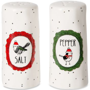 Snow Bird Salt and Pepper Shaker Set
