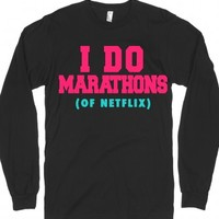 I Do Marathons-Unisex Black T-Shirt