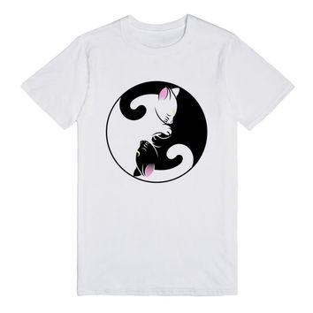 Artemis and luna sailor moon cats ying yang black and white