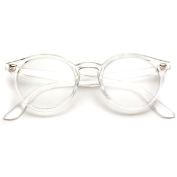 Ainsley Transparent Round Clear Frame Glasses - Clear Optical Glasses
