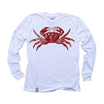 Red Crab: Organic Fine Jersey Long Sleeve T-Shirt