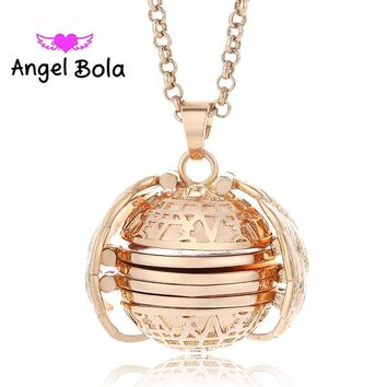 Locket Necklace Plated Angel Wings Flash Box Necklaces - Women
