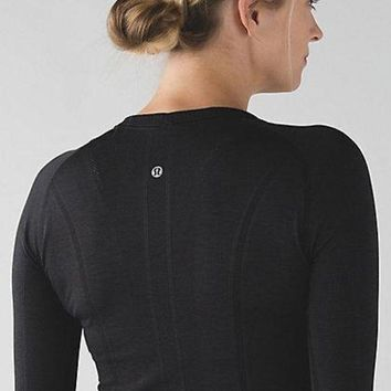 DCCKNQ2 Lululemon Swiftly Tech Long Sleeve Crew Sport Yoga Stretch Tunic Shirt Top Blouse-1