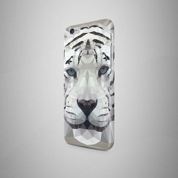 Geometric White Tiger iPhone 8 Plus Case iPhone 8