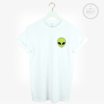 ALIEN POCKET t-shirt shirt tee green unisex mens womens tumblr pinterest instagram hipster blogger cool ufo *brand new