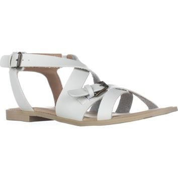 ESPRIT Sunny Flat Strappy Sandals, White, 8.5 US
