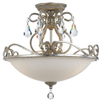 Ashton 3-Light Ceiling Mount, Silver, Flush Mounts