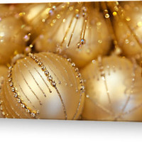 Christmas Shiny Sparkly Glittery Ornaments Gold