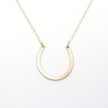 Horseshoe Necklace Inspired by Anastasia Steele in Fifty Shades of Grey - 14K Gold, Gold Filled or Sterling Silver