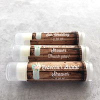 Rustic Mason Jar Wedding Lip Balm | Bridal Shower | Free Customization