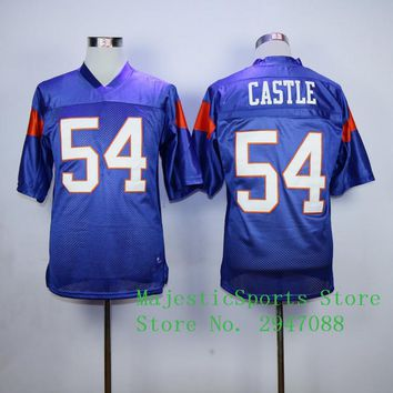 Blue Mountain State #7 Alex Moran 54 Thad Castle Stitched American Football Jersey