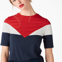 Multi triangle tee - multimix - Tops - Monki GB