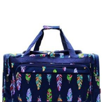 "23"" Feather Print Duffel"
