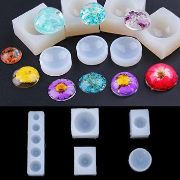 Liquid silicone mold DIY resin Hemisphere jewelry pendant necklace pendant lanugo mold resin molds for jewelry Making Epoxy Cast