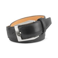 Pakerson Designer Men's Belts Men's Black Hand Painted Italian Leather Belt