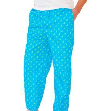 Frog PJ Bottoms - Blue