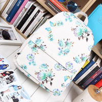 Canvas Pastoral Style Beige Casual Korean Backpack = 4887538308