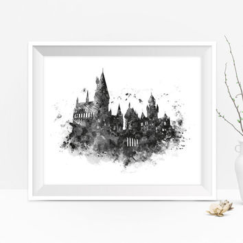 Hogwarts Castle Art Print Hogwarts Wall Art Niffler Harry Potter Print Harry Potter Gift  Printable Gift For Mom Digital Download