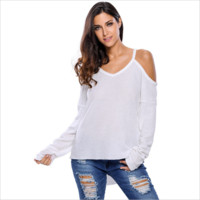 Off the Shoulder Mini Dress Suits for Women Strap Casual Work White Tops and Blouses Women's