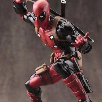 Deadpool Dead pool Taco Disney Marvel X-Men 20cm  2 Action Figure Sitting Posture Model Anime Doll Decoration PVC Collection Figurine Toys mode AT_70_6