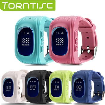 Torntisc Q50 Kid Safe GPS Smart Watch Locator Tracker Anti Lost Monitor  Lovely Wristwatch Support Micro SIM card for Children