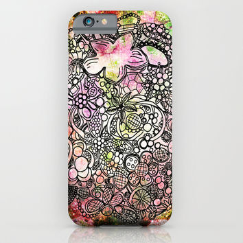Raspberry Swirl iPhone & iPod Case by Jenndalyn