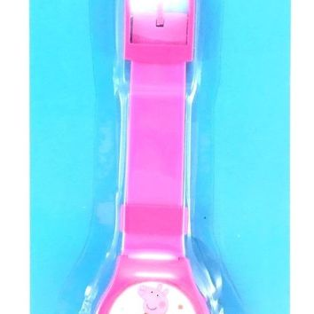 Party Favors Licensed E-ONE Peppa Pig Pink LED Watch 1 Pack