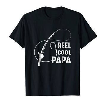 Reel Cool Papa Funny Fishing Papa Shirt For Father's Day