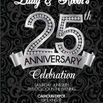 Diamond 25th Anniversary Invitation