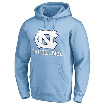 North Carolina Tar Heels Fanatics Branded Team Lockup Pullover Hoodie - Carolina Blue