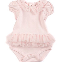 Starting Out Treasures Newborn-6 Months Tulle Bodysuit - Light Pink