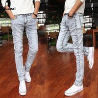 Fashionable men's clothing, jeans male quality men's casual pants feet