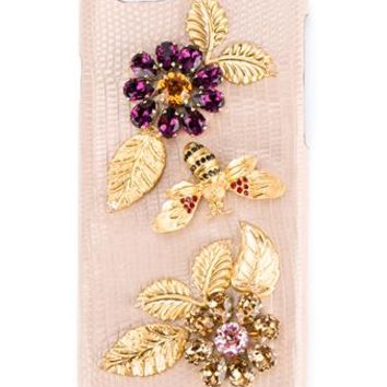 DOLCE & GABBANA | Crystal Embellished Goatskin iPhone 6 Case | Womenswear | Browns Fashion