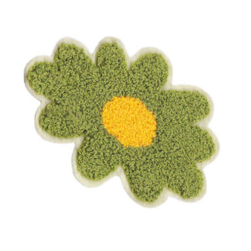 Large & Cute Chenille Hippie Flower Power Patch 11.5cm