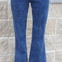 Denim Wash Bell Bottoms