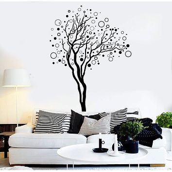 Vinyl Wall Decal Abstract Tree House Interior Room Art Stickers Unique Gift (ig4381)