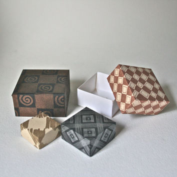 origami box kit-heavy metals design
